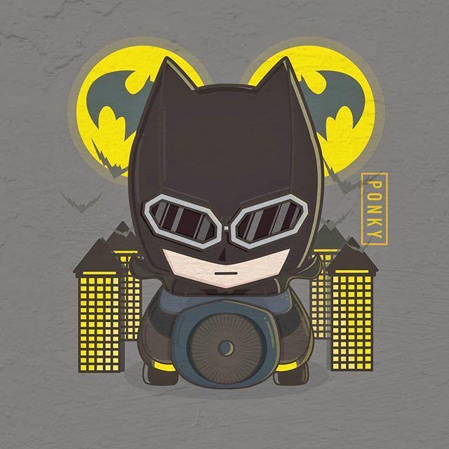 Mobil Balap Batman Dc Dccomics Marvelcomic Illustration Ilustrasi American Comic Bat Batmobile Night City Bighead Mobil Balap Pembalap