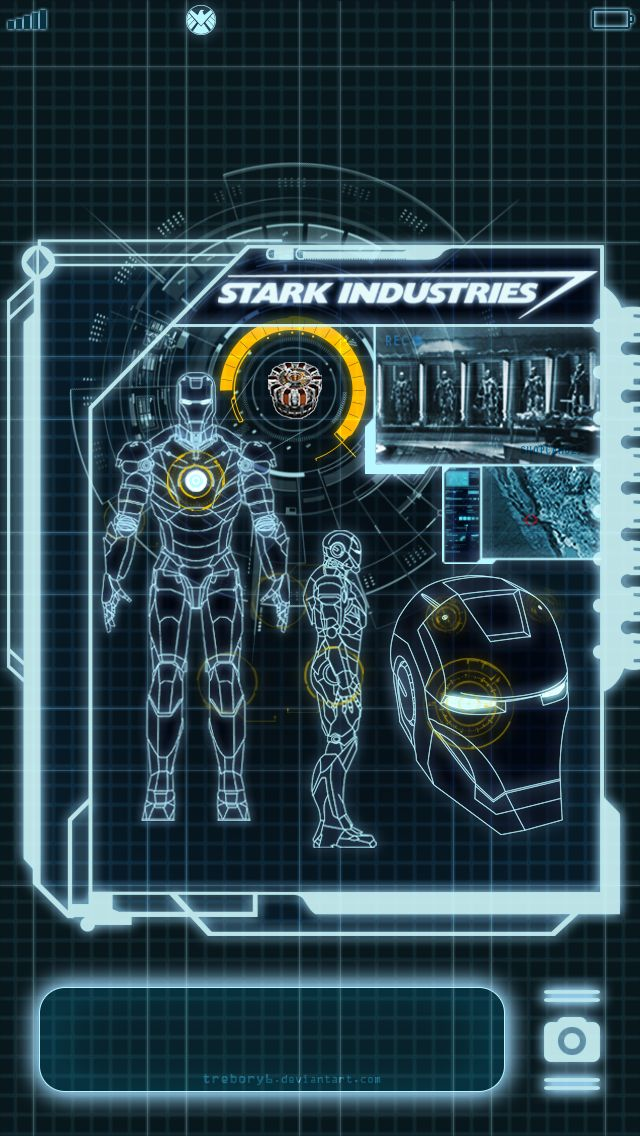 Customize your iPhone5 with this high definition 640x1136 Stark Industries Lock Screen wallpaper from HD Phone Wallpapers!