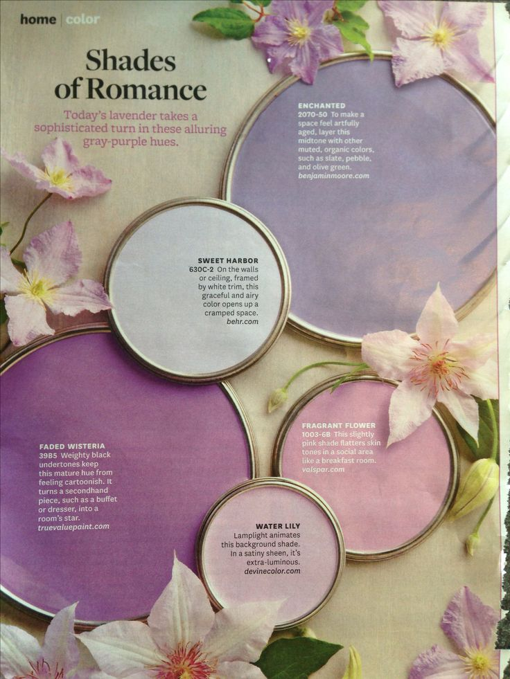 """Lavender for accent walls? """"Avoid using it in a kitchen or bathroom. [with limited complements of pattern, texture, and color], it gets old really quick."""" --Anne Coyle, designer"""
