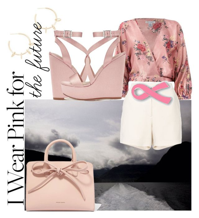 """Pink dream"" by bernadett-soos on Polyvore featuring Justine Clenquet, Miss Selfridge, Sans Souci, Elie Saab and Mansur Gavriel"