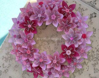 Fiore di carta origami Corona sposa decorazioni di kreationsbykia