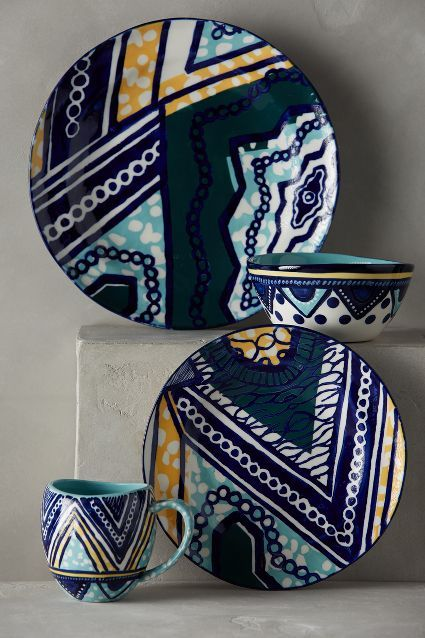 Anthropologie - Habari Collection Dinnerware