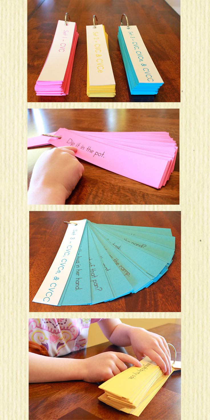 Reading fluency sentence strips. Simple sentences with beginning sight words and CVC, CVCe, & CVCC words. There are 3 sets that progress from CVC to CVCe to CVCC. Fun and simple way to practice and improve reading fluency! Click on the picture for more information.