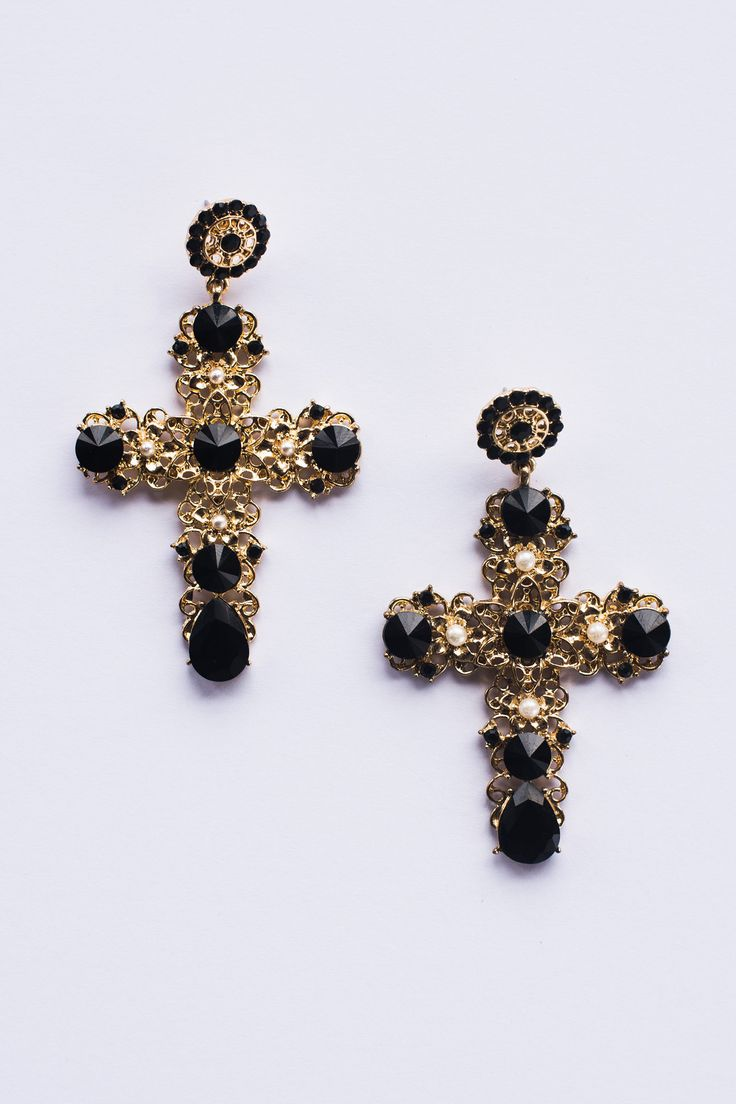 Constance Cross Earrings – Style Addict