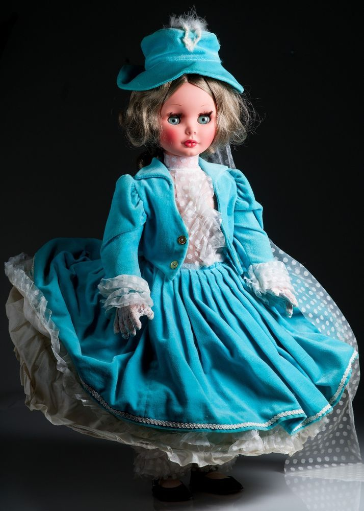 "1960s large Furga Elizabetta 25"" doll with hoop dress"