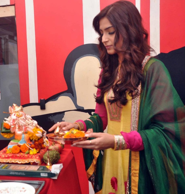 Sonam Kapoor during Ganesh pujan at zoOm