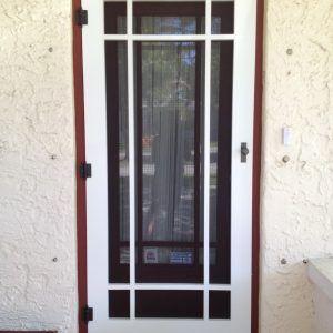 Craftsman Style Security Screen Door