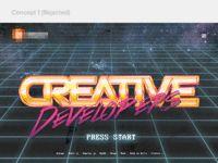 Retro-futuristic software house site
