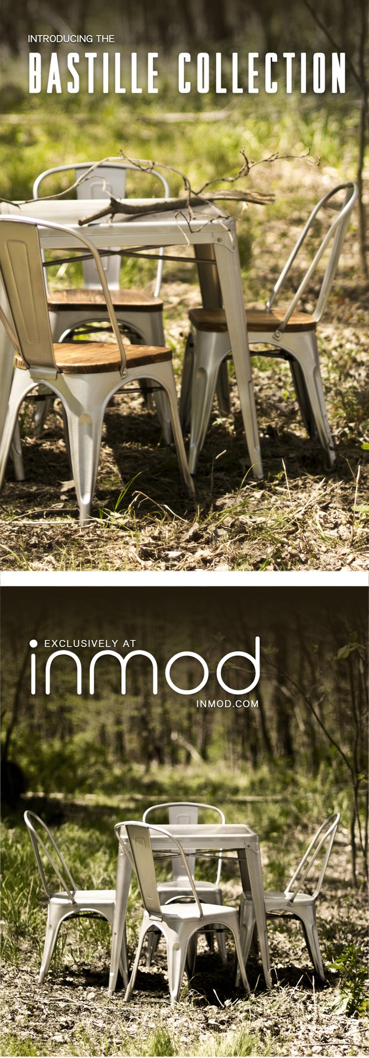 Bastille Collection From Inmod Features Galvanized Steel Dining Chairs,  Table And Bar U0026 Counter Stools