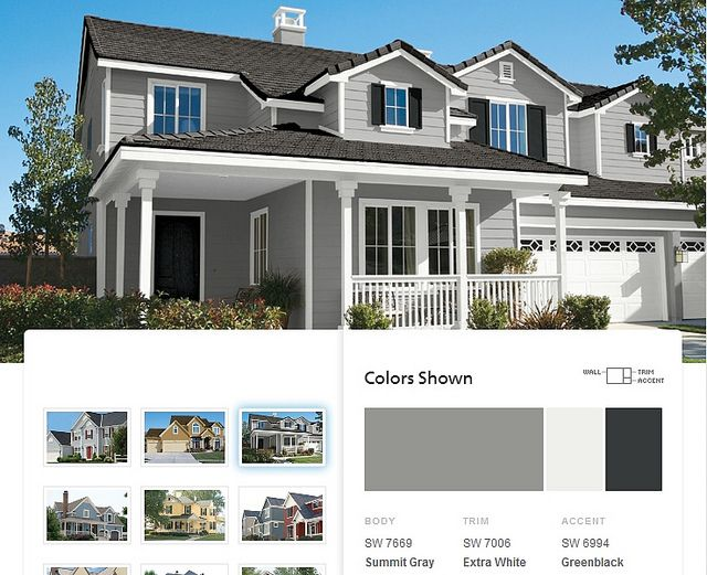 Possible exterior paint colors summit gray by sherwin - House paint color combinations exterior ...