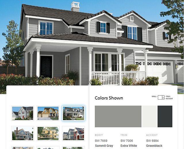 a23d907b432bafb02c84e7b123935159 paint color schemes exterior paint colors for house gray colour schemes