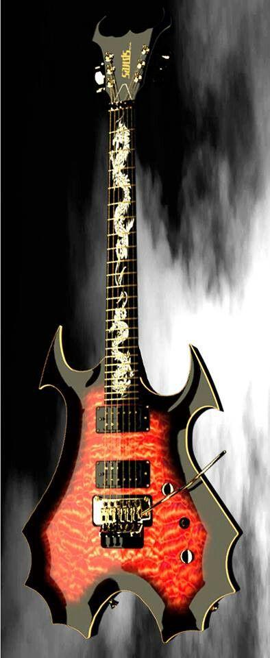 La Bad Dragon, une custom metal par McSwain Guitars. Retrouvez des cours de guitare d'un nouveau genre sur MyMusicTeacher.fr
