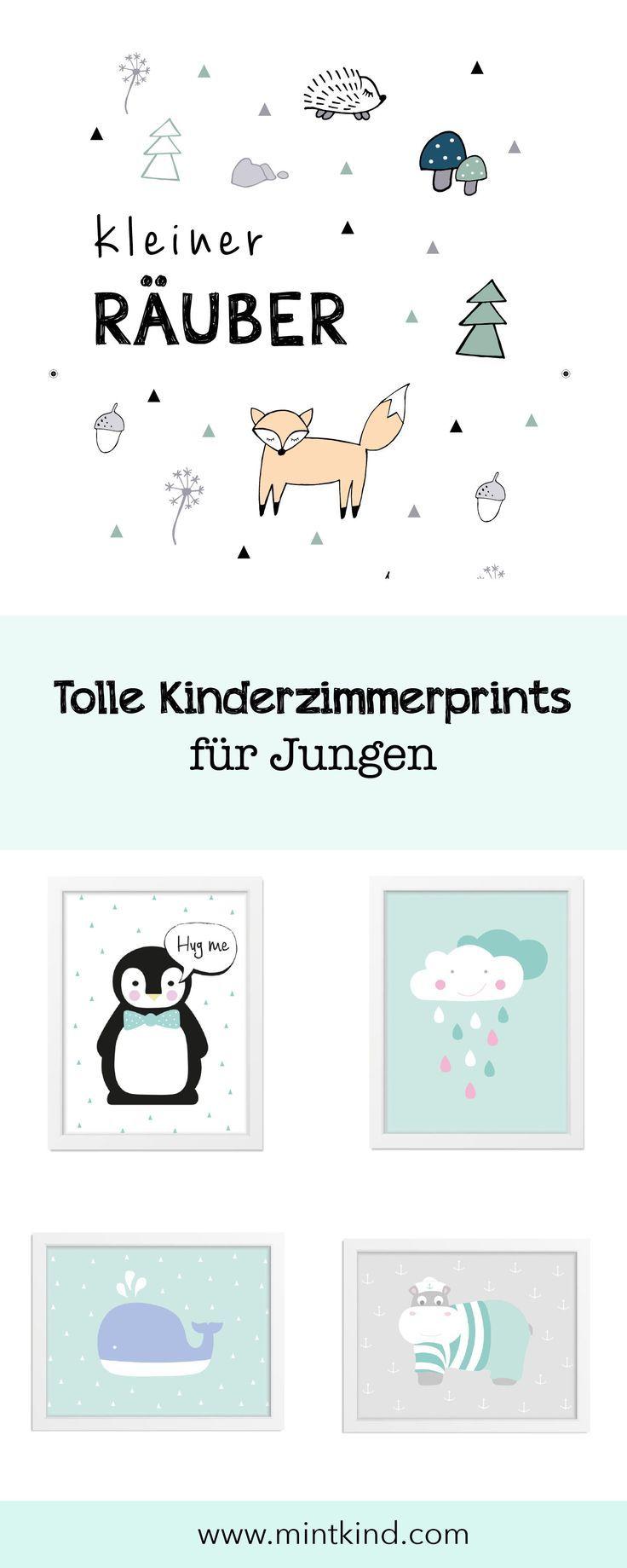 Babyzimmer Junge – schöne Kinderzimmerprints für deinen Babyjungen. Bei uns findest du süße Kinderzimmerposter – Wal, Hippo, Fuchs, Pinguin und vi…