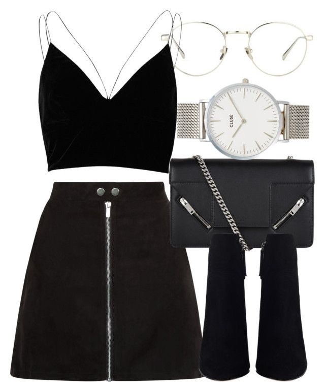 """""""Untitled #6842"""" by laurenmboot ❤ liked on Polyvore featuring Linda Farrow, River Island, Yves Saint Laurent and CLUSE"""