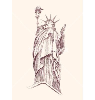 Statue of liberty vector - by vladischern on VectorStock®