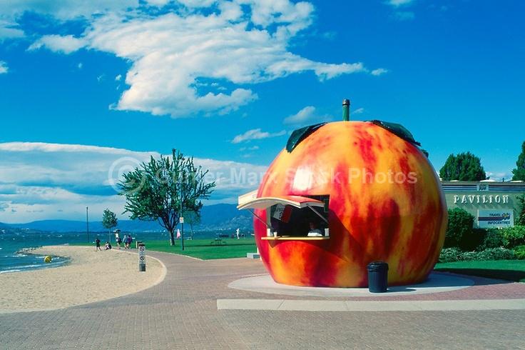 Legendary Penticton Peach, in Penticton, BC.