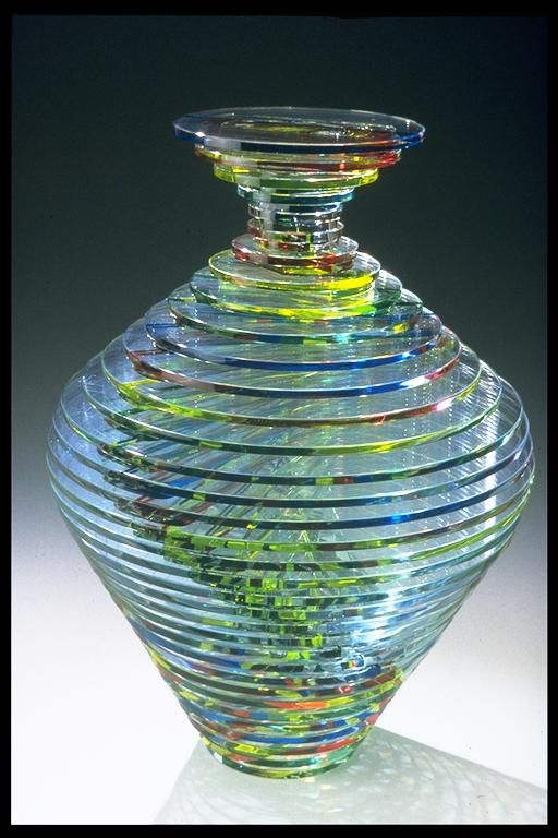 Coldworked glass vase by Mark and Julia Glocke, who will be at the Philadelphia Museum of Art Craft Show in November 2012. @designerwallace