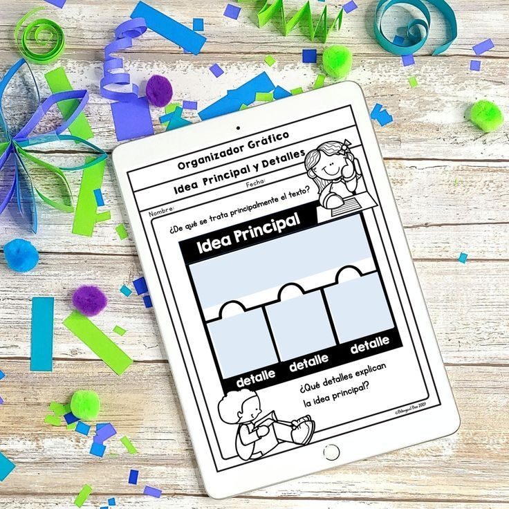 Spanish Teaching Main Idea Teaching Main Idea Graphic Organizers Main Idea Anchor Chart