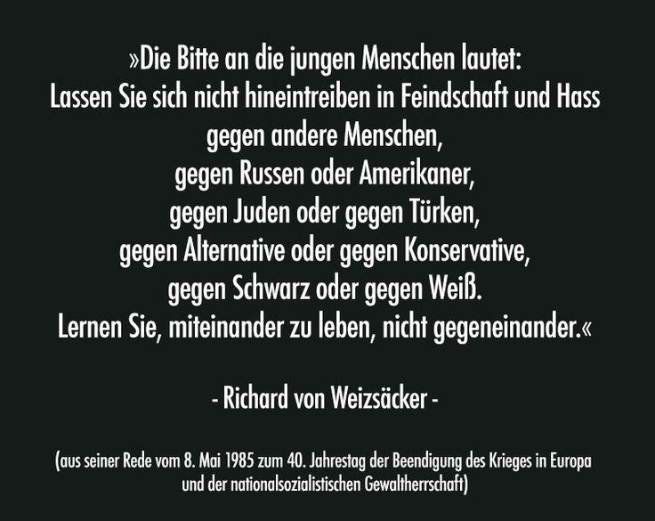 #no PEGIDA #richard von weizäcker
