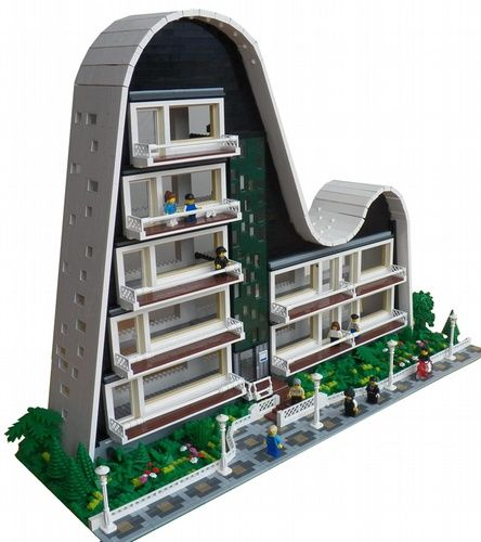 Wave Building: A LEGO® creation by Joaquín Cantolla : MOCpages.com