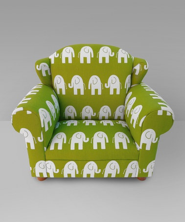 Take a look at this Green Elephant Wingback Chair by Funky Kids by Mauricio's Furniture on #zulily today!
