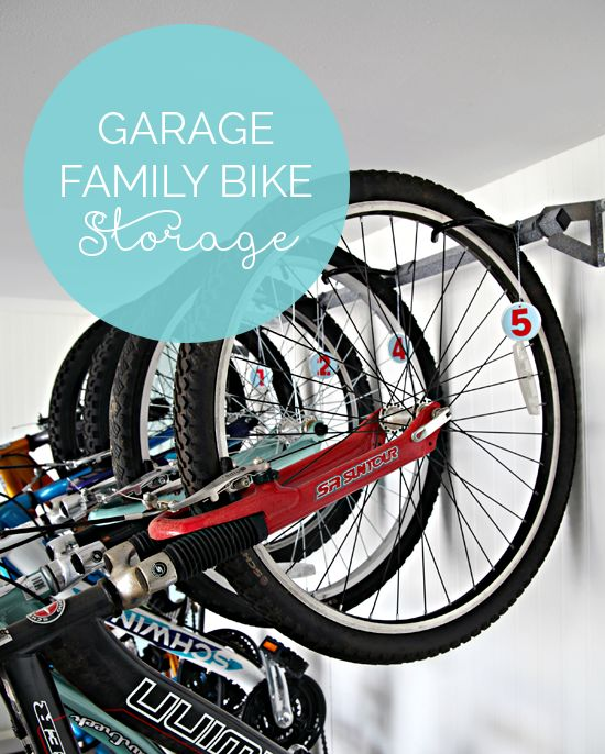 IHeart Organizing: Garage Update: Family Bike Storage