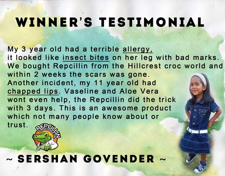Repcillin can help sooth allergies, insect bites & chapped lips according to Sershan's testimonial. What does Repcillin cure for you? Natural Remedy and Cures www.repcillin.com