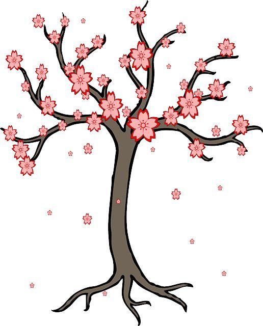 zakvitnutý strom