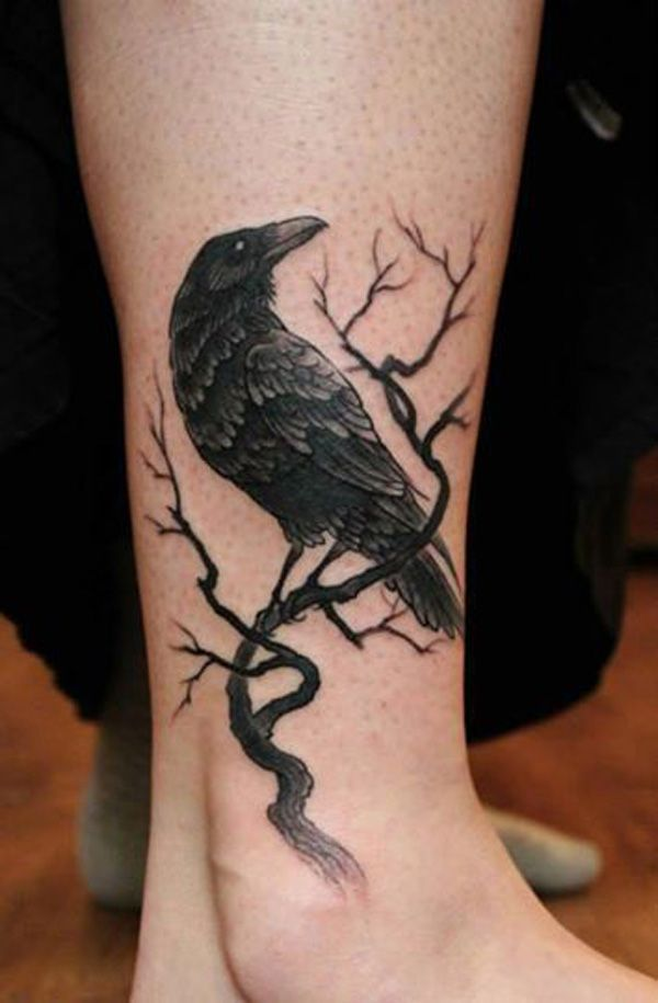 Raven Alkne Tattoo - 60+ Mysterious Raven Tattoos  <3 <3