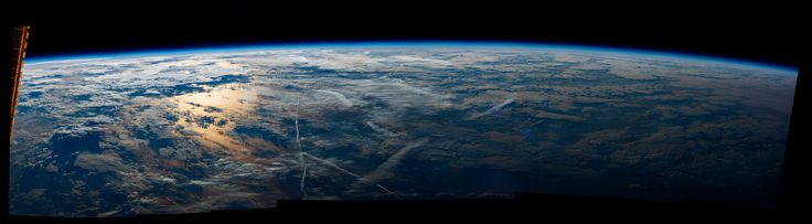 """Good Morning From the International Space Station Expedition 48 Commander Jeff Williams of NASA shared this sunrise panorama taken from his vantage point aboard the International Space Station writing """"Morning over the Atlanticthis one will hang on my wall."""" August 30 2016"""
