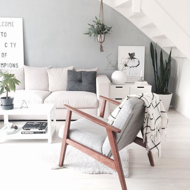 Best scandinavian living room through textiles