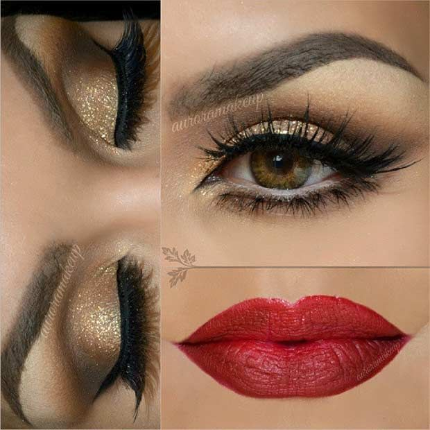 25 Glamorous Makeup Ideas for New Year's Eve