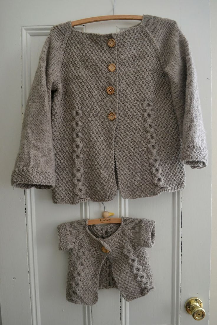 Otto Day cardigan   Children's free pattern here http://www.threadandladle.com/2013/01/knitting-pattern-double-breasted-baby.html Amy Day cardigan   adult version here http://www.threadandladle.com/2013/03/amy-day-cardigan.html