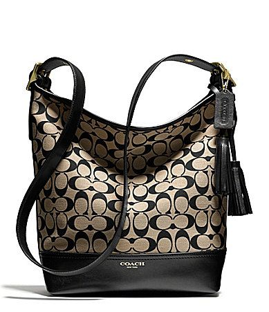 COACH LEGACY DUFFLE IN PRINTED SIGNATURE FABRIC #Dillards