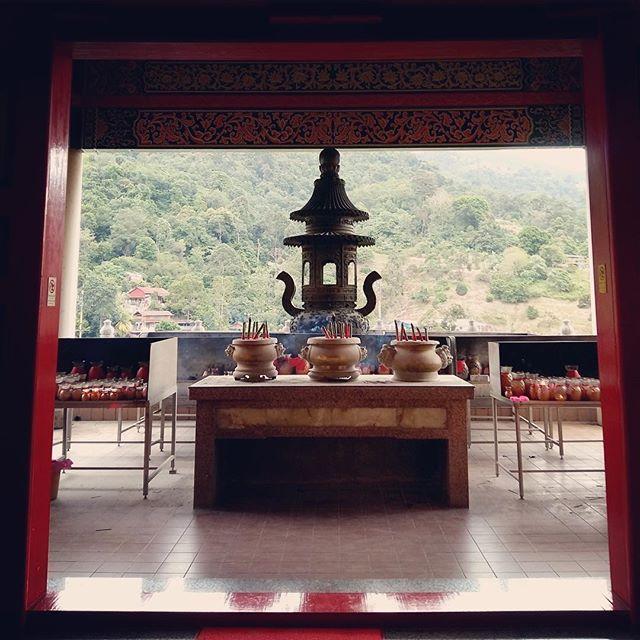 Buddhist temple in Penang, Malaysia #buddhisttemple #travelmalaysia #zen #religions #sacredspace