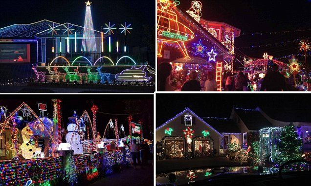 Residents across Australia decorate their homes with Christmas lights
