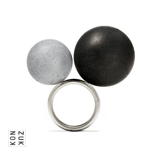 KMr187 OrbisHue Concrete Ring