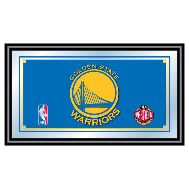 Golden State Warriors Team Logo Wall Mirror,