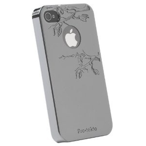 Pretty mirrored, branch-etched iphone case
