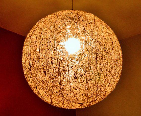 Big Ball Hemp Light  50cm diameter String by FourSeasonsCreations