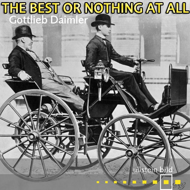 """""""The best or nothing at all."""" German engineer and businessman #GottliebDaimler was born #OTD in 1834. Photo shows Gottlieb Daimler with his son Adolf who is driving the stagecoach which Gottlieb and Wilhelm Maybach built in 1886. It was the the first four-wheeled vehicle to reach 10 mph. Both were founders of the Daimler-Motoren-Gesellschaft in 1890, forerunner of #DaimlerBenz."""