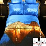 www.qwerkyquilts.com has a huge range of 3D bedding including city scene , butterfly and leopard bedding