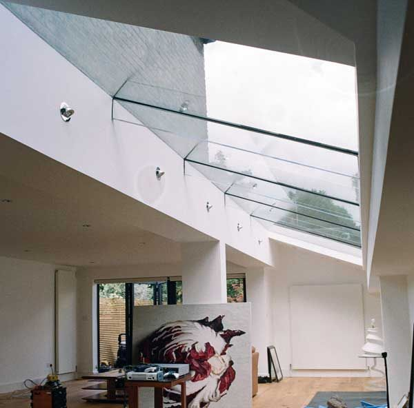 Sheer glass roof