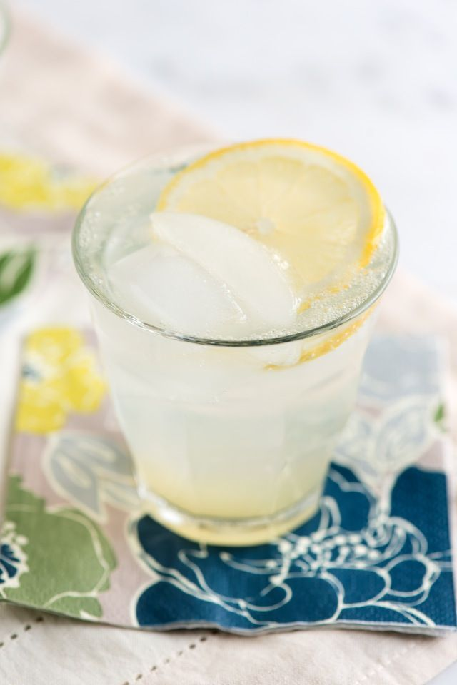 Classic Gin Fizz Cocktail Recipe from www.inspiredtaste.net #cocktail