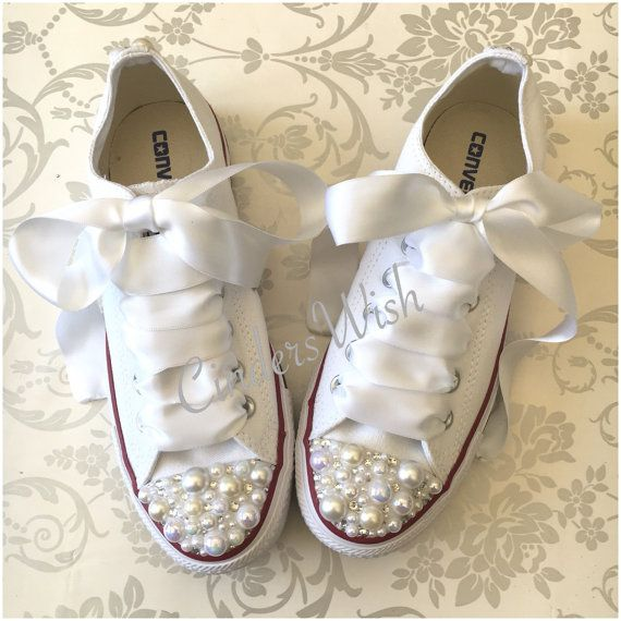 Pearl Converse / bridal converse / wedding by CindersWish on Etsy