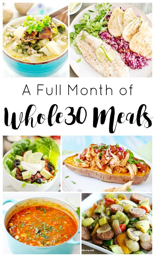 A Full Month of Delicious Whole30 breakfast, lunch and dinner Recipes to Keep You On Track #whole30 http://www.southernfamilyfun.com/whole30-recipes/