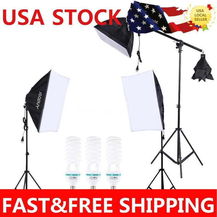 Photograpy Studio 405Ws Video Light Continuous Lighting Kit 3Softbox Stand Set