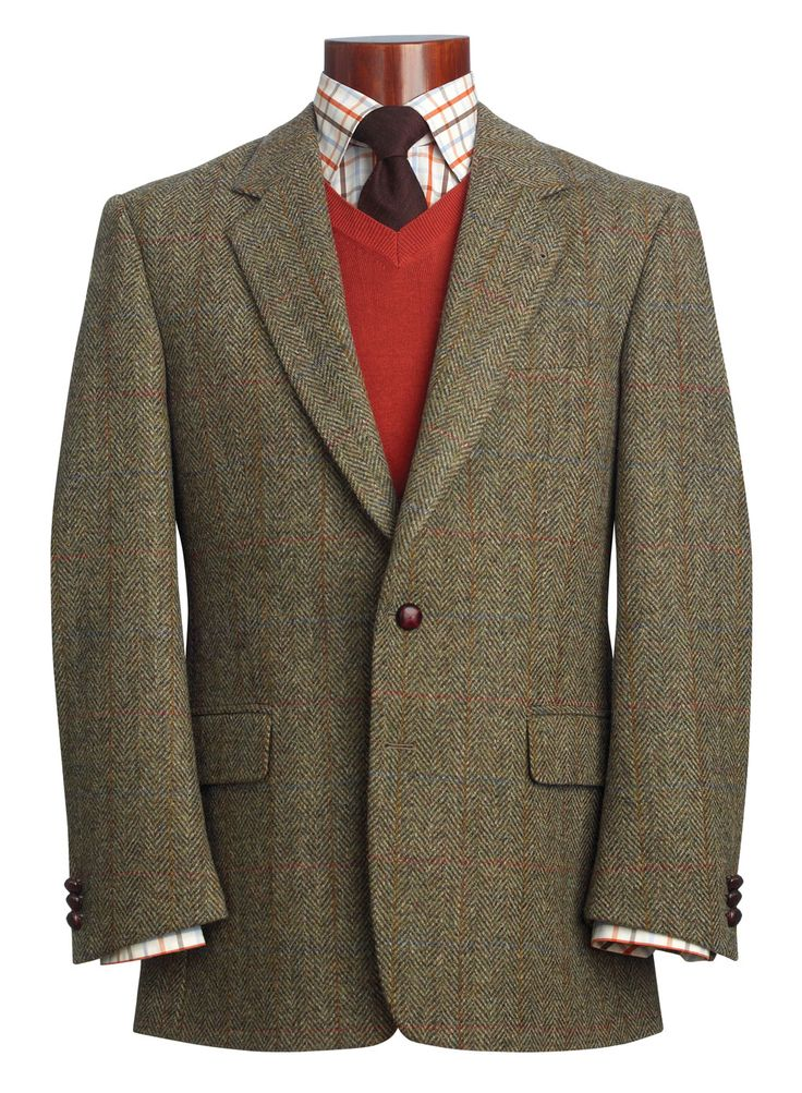 Tweed Jackets originate from the Isles of Harris, Lewis, Uist, and Barra, Scotland. This has been a consistent staple in Men's wear, and has recently been re-invented by Ralph Lauren and J. C…