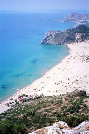 Tsampika beach, near Archangelos, Rhodes, Greece