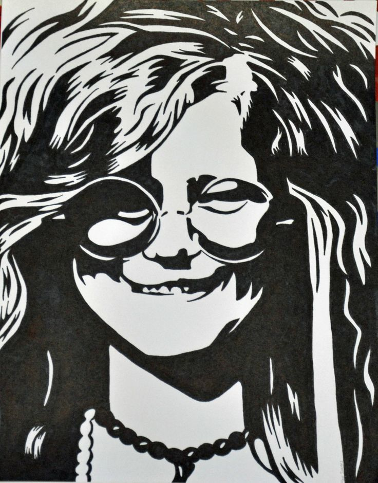 This is an image of Sweet Janis Joplin Drawing
